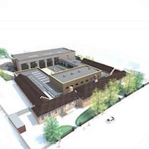 Fullhurst expansion artists' impression - aerial view