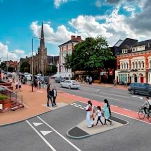 Artist's impression of London Road scheme