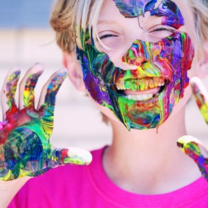 boy with facepaint