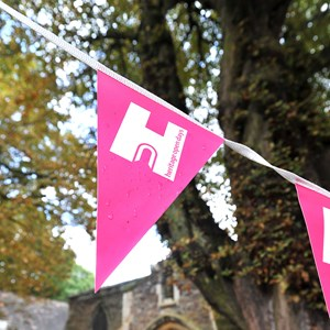 Belgrave Hall with Heritage Sunday bunting