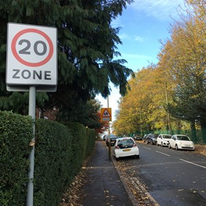 20mph sign residential road