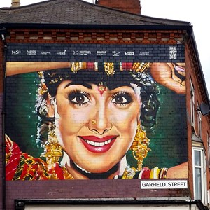 Image: Street art in Garfield St, Leicester