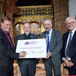 Bishop of Leicester, Dean of Leicester, City Mayor and Police and Crime Commisioner are backing a homelessness charter