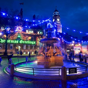 Christmas lights in Town Hall Square