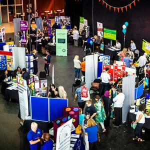 Image: Picture of the exhibition hall at last year's Local Offer Live event