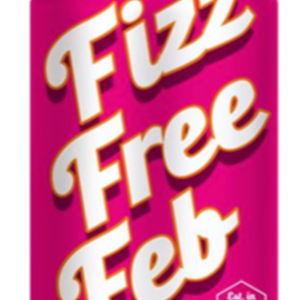 Image: Fizz Free Feb logo - a fizzy drinks can