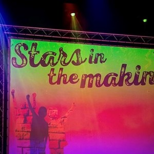 Image: The Stars in the Making banner backdrop at the awards event