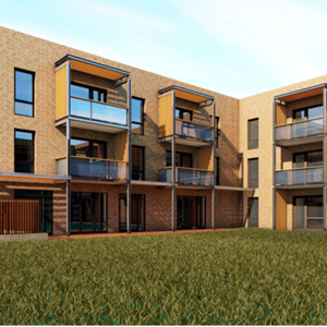 An artists' impression of how the homes at Tilling Road will look