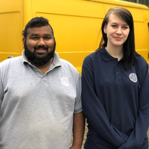 Image: Apprentices  Sufyaan Shaikh and Alanis Thomas