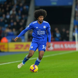 Image: Leicester City Football Club midfielder Hamza Choudhury. Picture courtesy of LCFC/Plumb Images