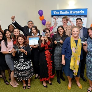 Image: The winners of Smile Awards at the awards ceremony in Leicester