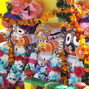 Decorations on Rathayatra chariot