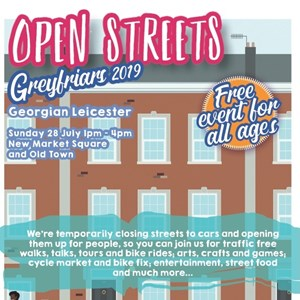 Image: Open Streets July 2019 promotional poster