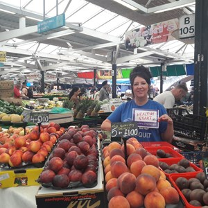 Image: A Leicester market stallholder who accepts Healthy Start vouchers