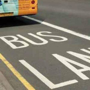Bus in a bus lane