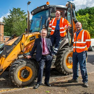 City Mayor with John Wood and John Raby of highways team