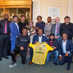 Antigua & Barbuda football team and guests