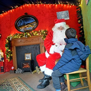 Santa's grotto in Leicester's new market square