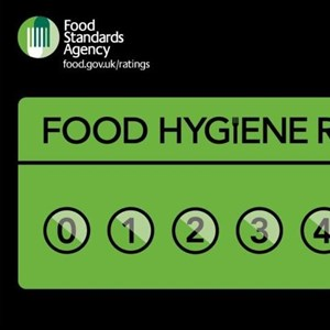 Food Hygiene Rating display card