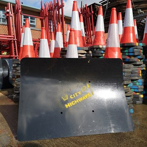 City Highways road cones and signs