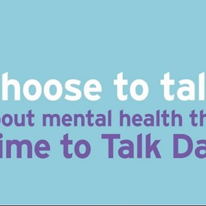 Image: Choose to talk about mental health this Time to Talk Day