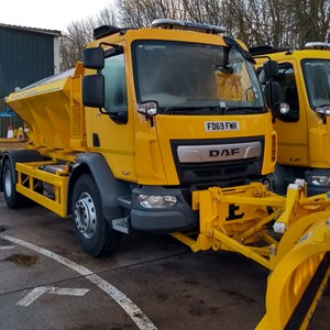 The new gritters parked at Leycroft Road depot