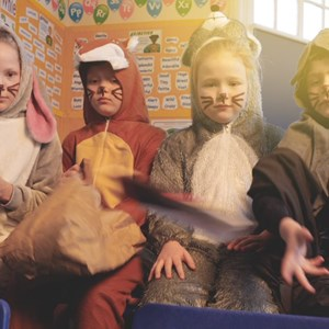 Pupils dressed as wild animals in litter campaign