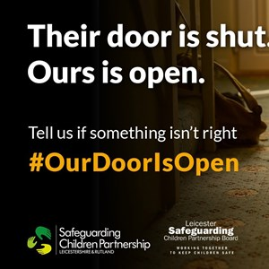 Our Door Is Open campaign graphic