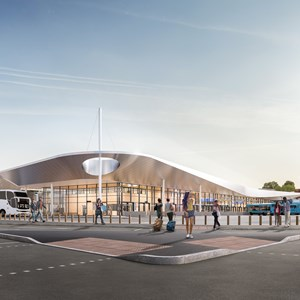 Artist's impression of new St Margaret's Bus Station
