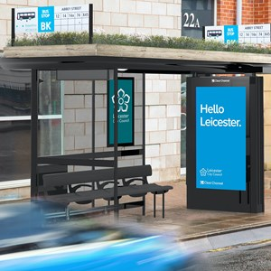 Artist's impression of how the new bus shelters will look