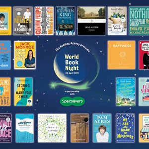 World Book Night graphic with logo and book covers
